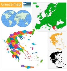 Greece map vector