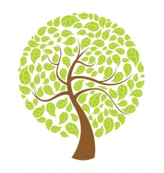 Natural tree vector