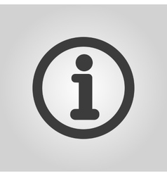 The information icon info and faq symbol flat vector