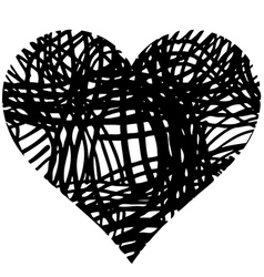 Doodle heart shaped 4 vector