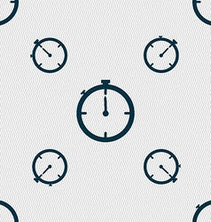 Timer sign icon stopwatch symbol seamless pattern vector