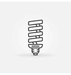 Cfl bulb linear icon vector