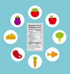Nutritional food design vector
