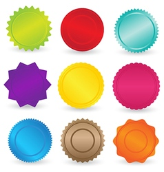 Colorful stickers and labels element vector