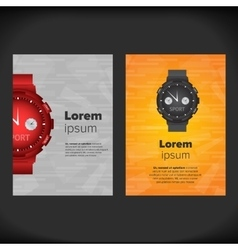 Watches flayer design vector