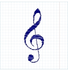 Scribble icon with pen effect vector image