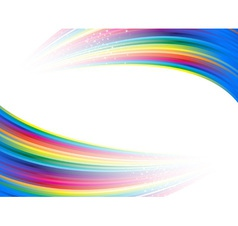 Rainbow colorful advertisement vector
