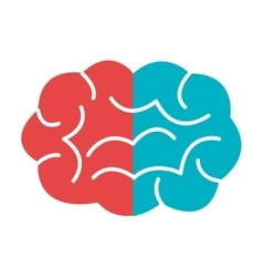 Red and blue brain graphic vector