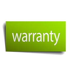 Warranty square paper sign isolated on white vector