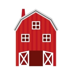 Stable farm isolated icon design vector