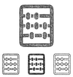 Abacus icon set - sketch line art vector image vector image