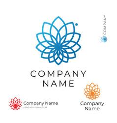 beautiful modern contour flower logo identity vector image vector image