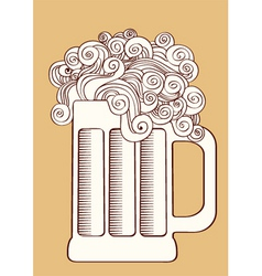beervector graphic illustration of glass vector image vector image