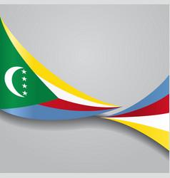 comoros wavy flag vector image vector image