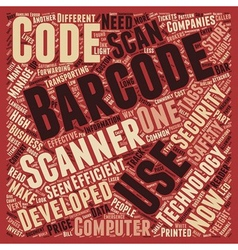 Developments in the barcode tags and scanners vector