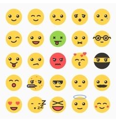 Emoticons set yellow website emoticons vector