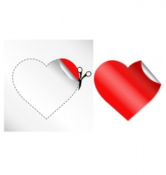 hearts in form of sticker vector image vector image