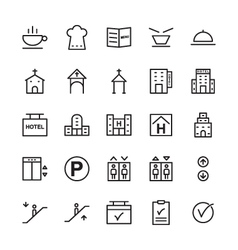 Hotel icons 14 vector