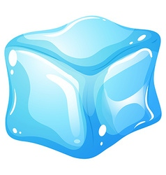 Ice cube on white vector