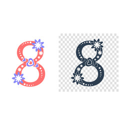 icons 8 march numeral 8 vector image vector image