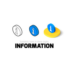 Information icon in different style vector image