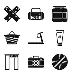 Inspection icons set simple style vector