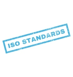 Iso standards rubber stamp vector