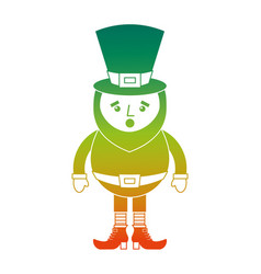Leprechaun surprise cartoon st patricks day vector