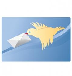 mail bird vector image