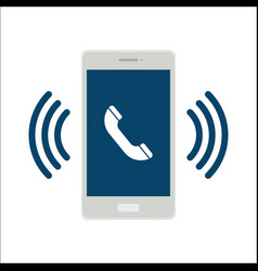 Mobile phone call icon vector