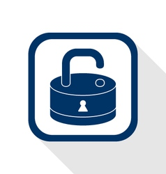 open lock flat icon vector image vector image
