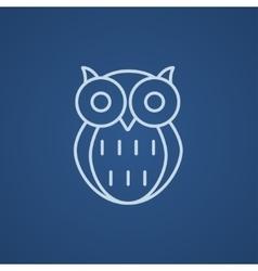 Owl line icon vector image