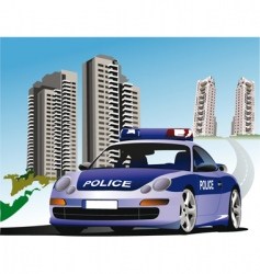 police city vector image vector image