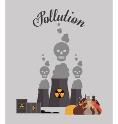 pollution concept design vector image