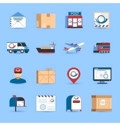 Post icons set vector