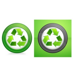 recycle in round vector image vector image