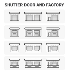 Shutter door icon vector