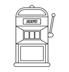 Slot machine icon outline style vector