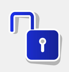Unlock sign new year bluish vector