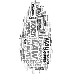 You and the tort law a guide text word cloud vector