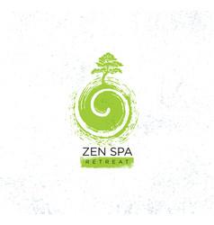 Zen spa wellness holistic retreat organic sign vector