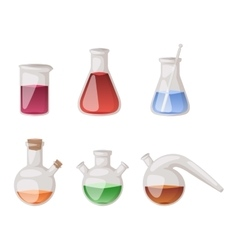 Lab flask set vector