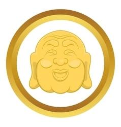 Budha head icon vector