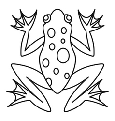 Frog icon outline style vector