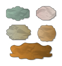 Collection of various crumpled pieces of paper vector