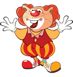 Cute Cat Clown Cartoon Character vector image