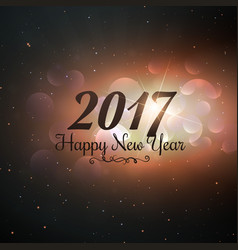 2017 new year text written in universe style vector