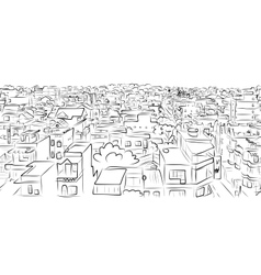 Cityscape sketch seamless pattern for your design vector