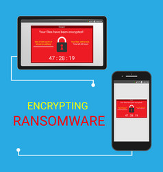Malware encrypted files vector