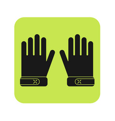 Protective gloves working clothes flat icon vector